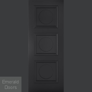 Antwerp 3 Panel Black Internal Fire Door