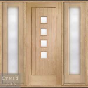 Siena Oak Grand Entrance with Sidelights