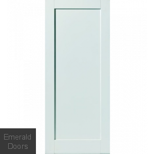 Antigua 1 Panel White Primed Fire Door