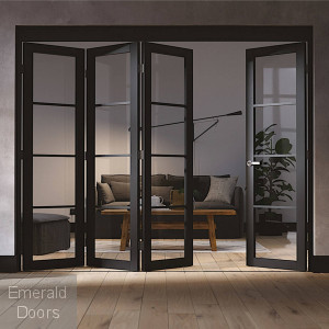 SOHO 4 DOOR INDUSTRIAL STYLE FOLDING DOORS