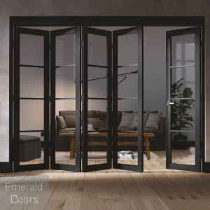 SOHO 5 DOOR INDUSTRIAL STYLE FOLDING DOORS
