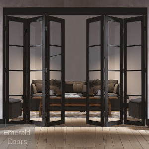 SOHO 6 DOOR INDUSTRIAL STYLE FOLDING DOOR
