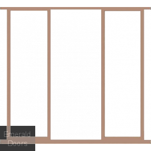 "Hardwood 23"" Sidelight Frame Kit Door Height 80"""