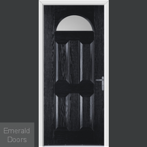 Gloucester Black External Glazed Fire Doorset