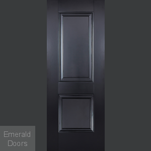 Arnhem Black 2 Panel Fire Door