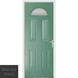 Gloucester Forli Green External Glazed Fire Doorset
