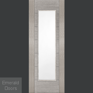 Corsica Light Grey Internal Door with Clear Glass