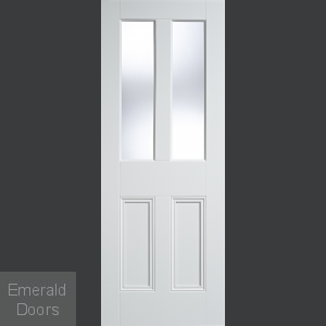 Malton White 2P-2L Unglazed Door