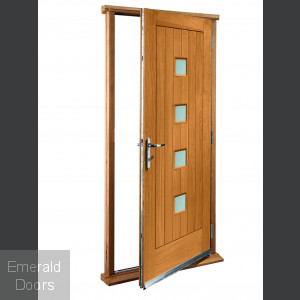 Siena Oak With Obscure Glass Doorset
