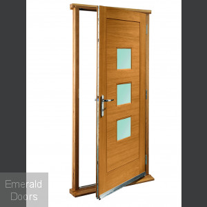 Turin Oak With Obscure Glass Doorset