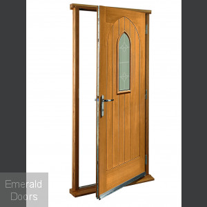 Westminster Oak with Decorative Glass