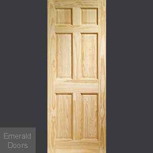 Colonial 6 Panel Clear Pine Internal Door
