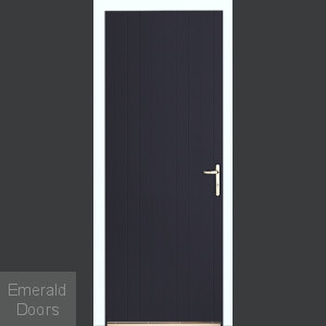 Anthracite Tongue and Groove External Fire Door Set