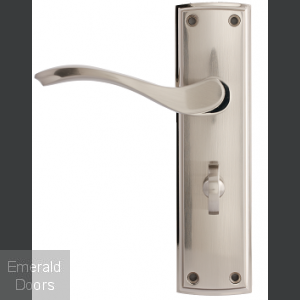 Ardeche Lever On Backplate Bathroom Lock