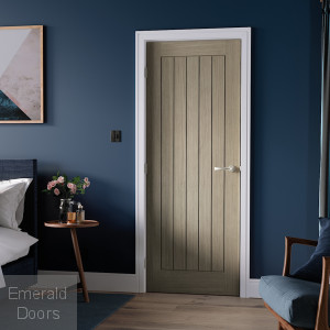 Belize Light Grey Internal Fire Door