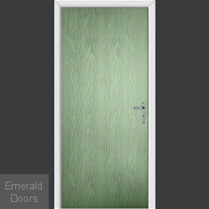 Folly Green Flush External Fire Door Set