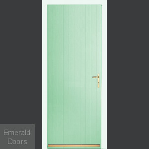 Folly Green Tongue & Groove External Fire Door Set