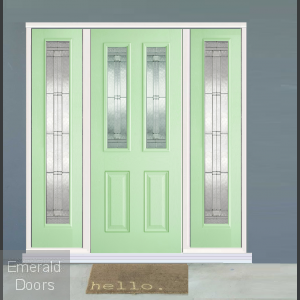 GRP Green Malton 2 Light Composite Grand Entrance Doors