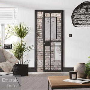 Greenwich Black Pocket Door System