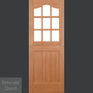 Hardwood Stable Door 9 Light Double Glazed