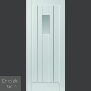 External Thames Glazed White Fully Finished Extreme Door