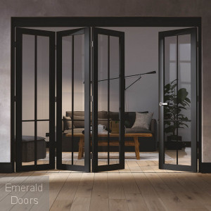 Liberty 4 Door Industrial Style Folding Doors