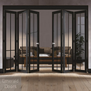 Liberty 6 Door Industrial Style Folding Doors
