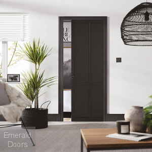 Liberty Black 4P Pocket Door System