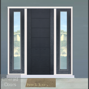 GRP Grey Modica Contemporary Composite Grand Entrance Doors