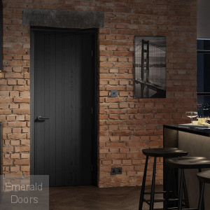 Black Ash Montreal Laminate Fire Door
