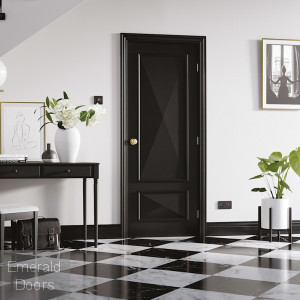 BLACK KNIGHTSBRIDGE 2P FIRE DOOR