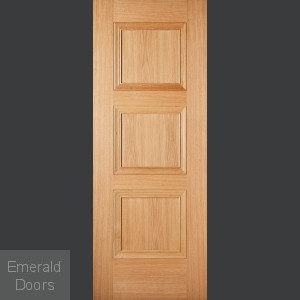 Amsterdam 3 Panel Oak Fire Door