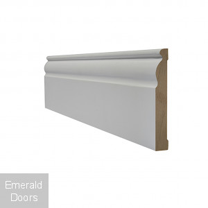 White Primed Ogee Skirting
