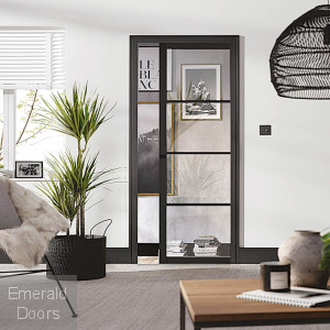 Soho Black Pocket Door System