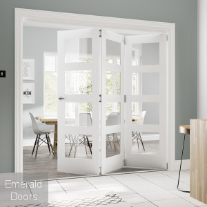 Coventry White Glazed Room Divider with 610mm Doors