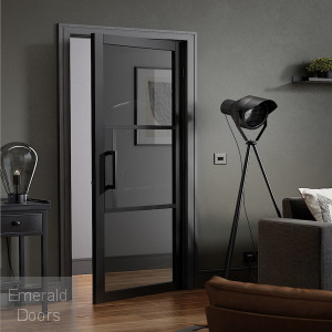 Black Tribeca 3L Internal Door with Tinted Glass