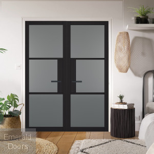 Black Tribeca 3L Door Pair with Tinted Glass