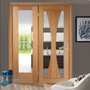 Verona Oak Single Door Room Divider with Side Panel