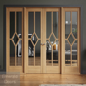 Reims W8 Oak Internal Room Divider with Side Panels