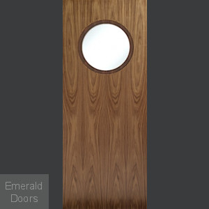 Walnut Porthole Door