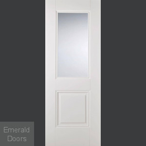 Arnhem 1P 1L White Primed Glazed Door