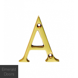 Victorian Letters Polished Brass