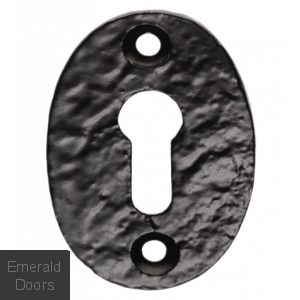 Oval Escutcheon Antique Black Standard Profile