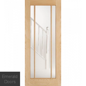 Lincoln Oak Clear Glazed Door