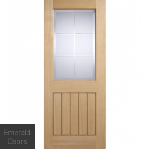 Mexicano Oak Obscure Glazed Door