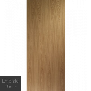 Contemporary Flush Oak FD60 Fire Door
