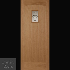 Oak Cottage Black External Door