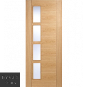 Contemporary Oak 6006 Offset Glazed Int Door