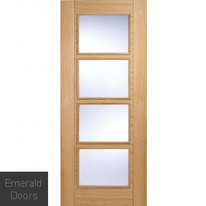 Contemporary Oak 6006 4L Int Fire Door