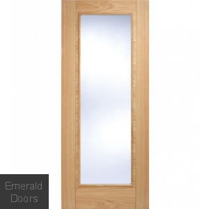 Contemporary Oak 6006 1L Glazed Fire Door